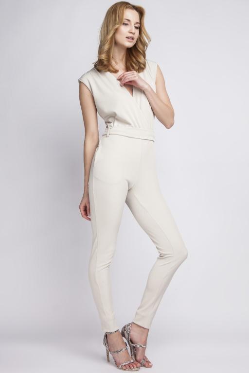 Jumpsuit sleeveless,  KB109 beige