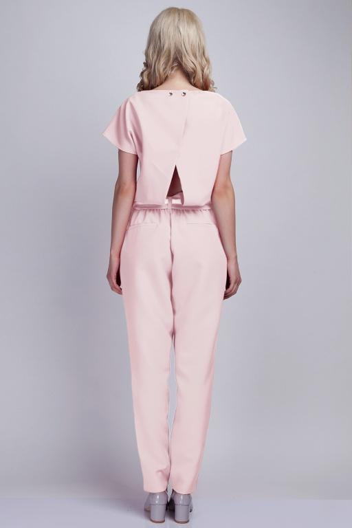 Jumpsuit with belt, KB102 pink