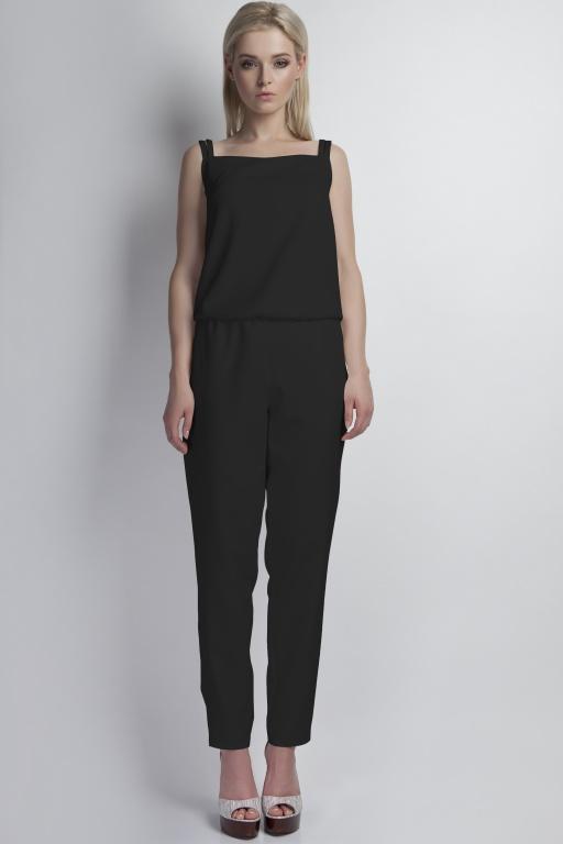 Jumpsuit shoulder straps, KB103 black