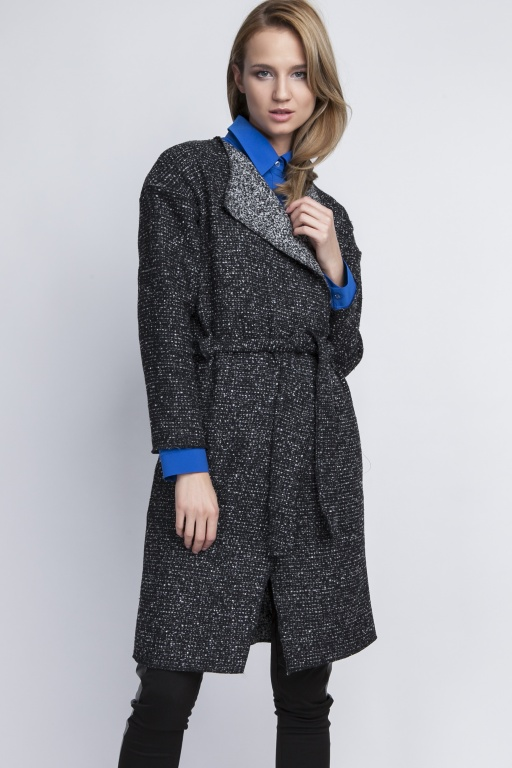 Coat with lapels, PA102 graphite