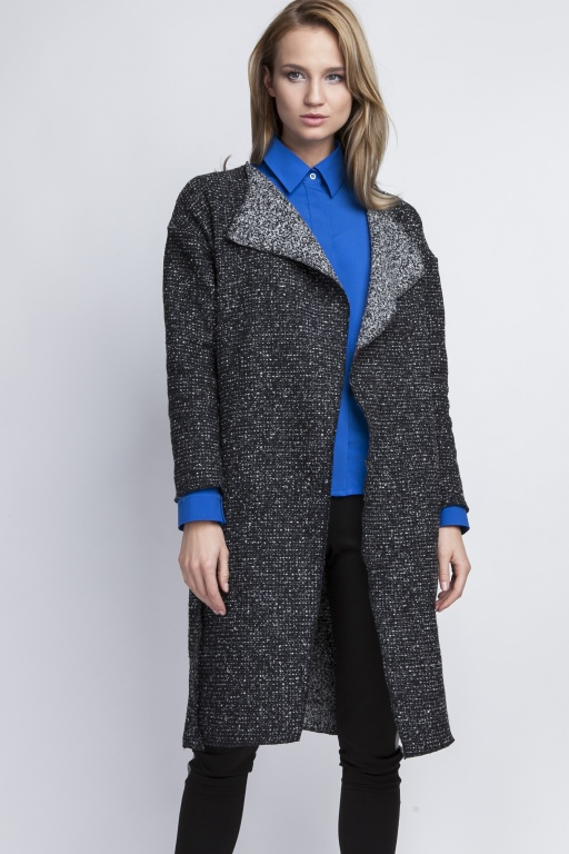 Coat with lapels, PA102 graphite