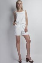 Short jumpsuit, KB104 ecru