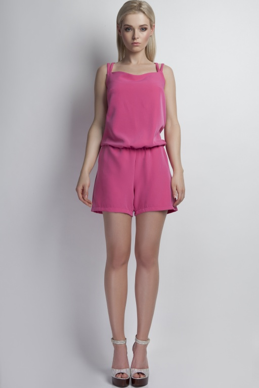 Short jumpsuit, KB104 pink