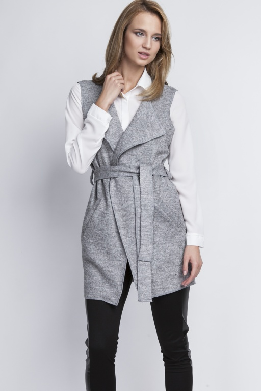 Stylish vest, KM101 gray