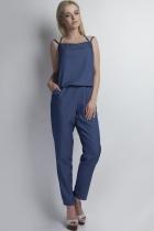 Kombinezon na ramiączkach jeansowy, KB105 jeans