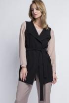 Elegant vest, KM103 czarny