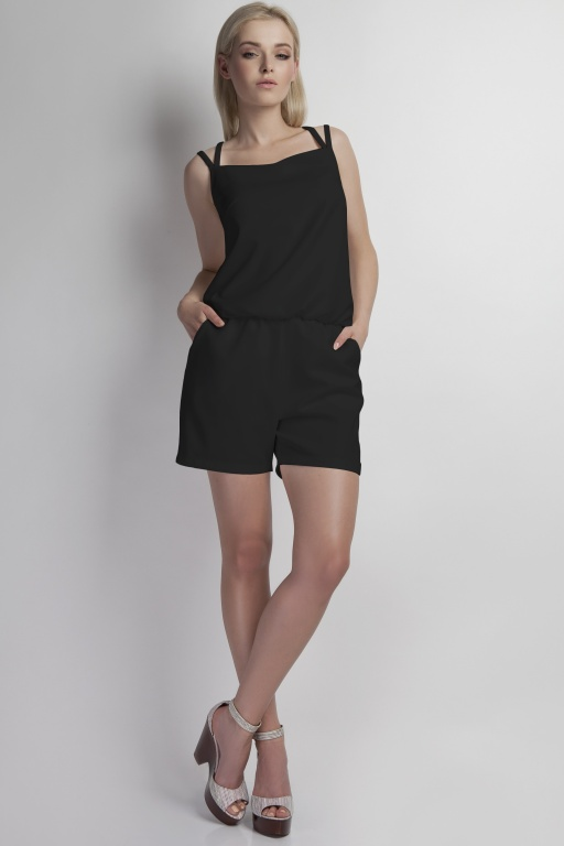 Short jumpsuit, KB104 black