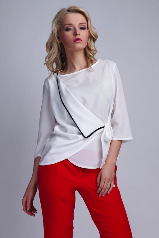 Wiązana bluzka, BLU122 ecru