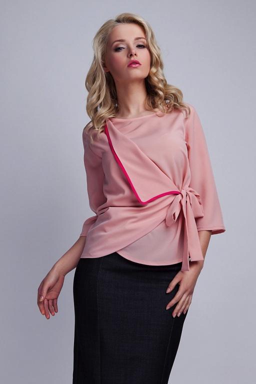 Wiązana bluzka, BLU122 róż