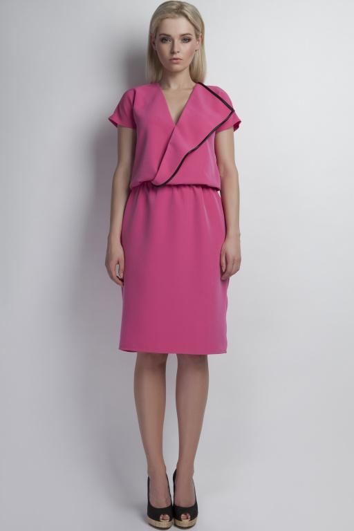 Kopertowa sukienka, SUK119 róż