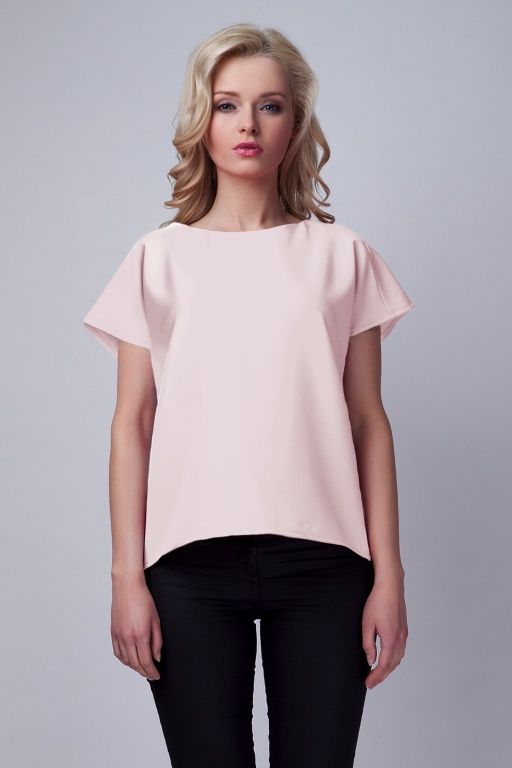 Blouse with the original back, BLU123 pink