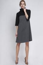 Sukienka z golfem, SUK121 grafit