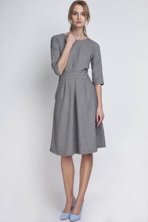 Sukienka z rozkloszowanym dołem, SUK122 pepito