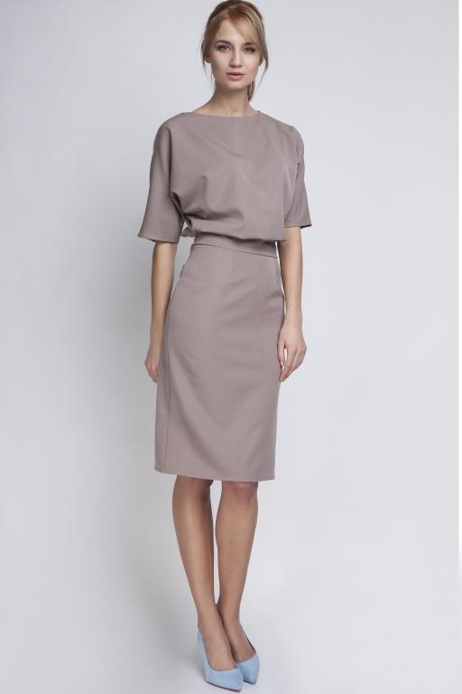 Dress tapered bottom, SUK123 beige