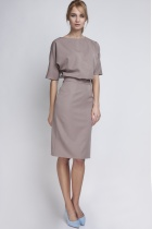 Dress tapered bottom, SUK123 beige