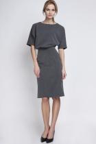 Sukienka dopasowana dołem, SUK123 grafit