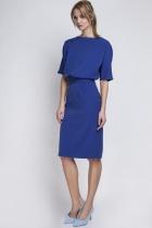 Sukienka dopasowana dołem, SUK123 indygo