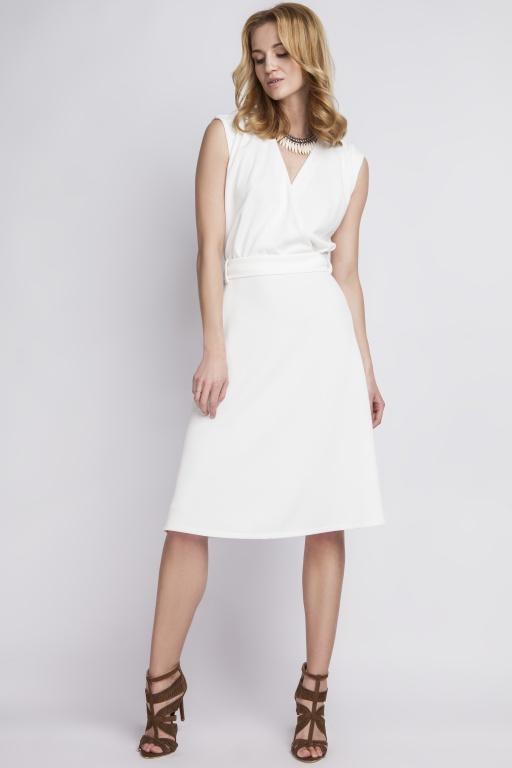 Dress in retro style, SUK125 ecru