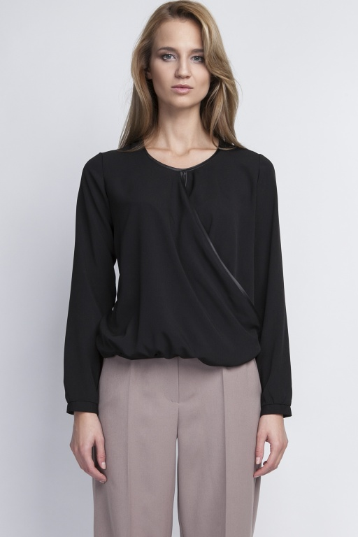 Blouse envelope, BLU125 black