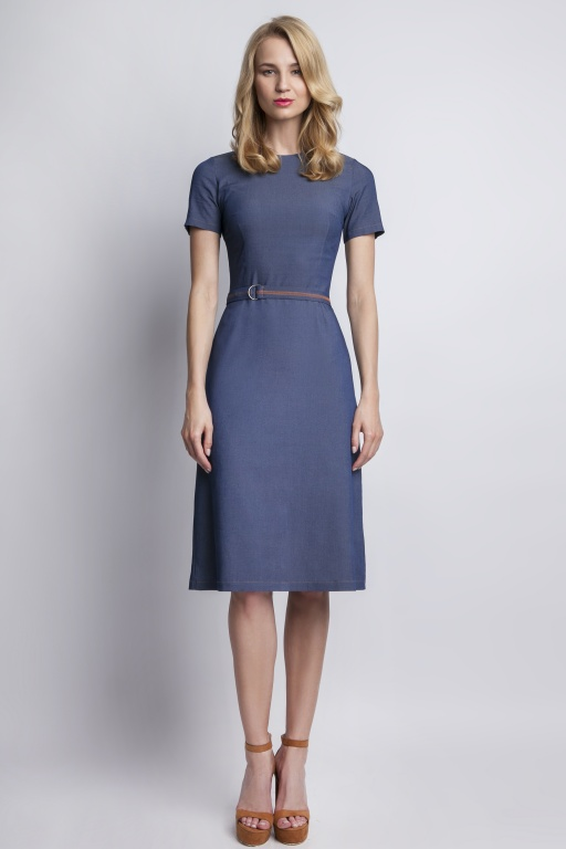 Jeans dress with short sleeves, SUK127 jeans