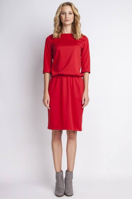 Klasyczna sukienka, SUK129 czerwony