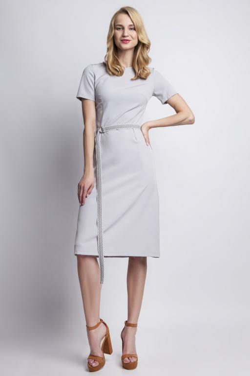 Sukienka z krótkim rękawem, SUK128 szary