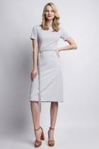 Dress with short sleeves, SUK128 gray