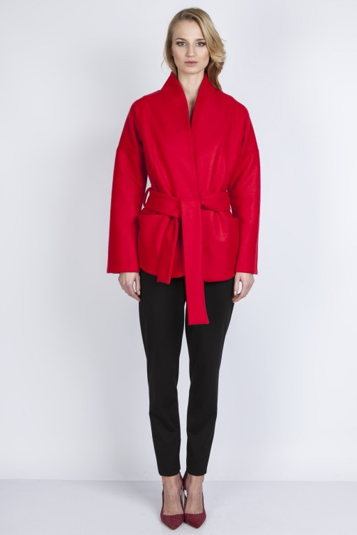 Woolen coat, ZA115 red