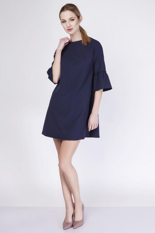 Trapezowa sukienka, SUK136 navy