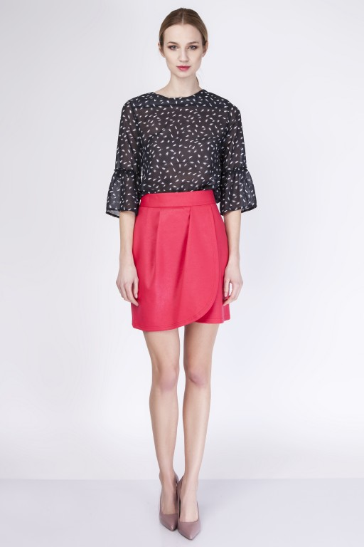 Skirt with overlap, SP113 red