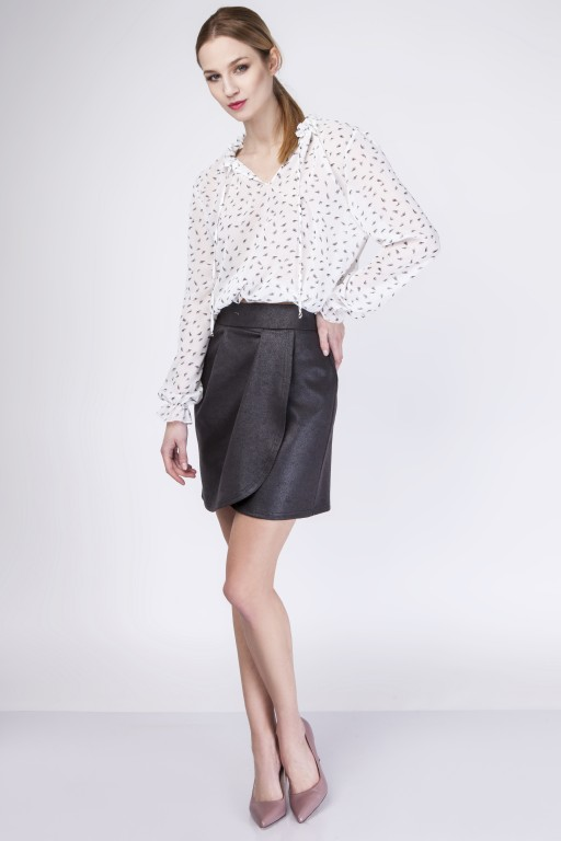 Skirt with overlap, SP113 black