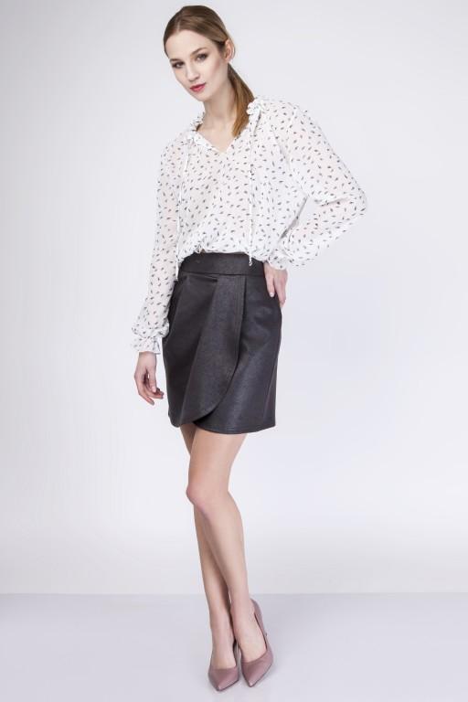 Skirt with overlap, SP113 black