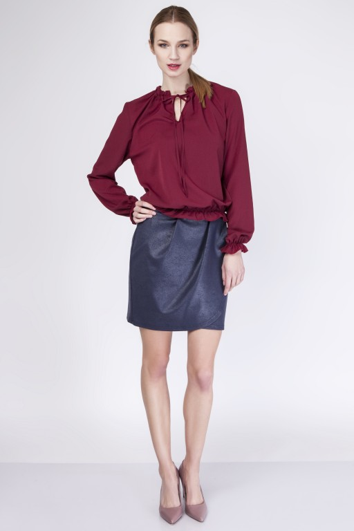 Subtle blouse, BLU129 burgundy