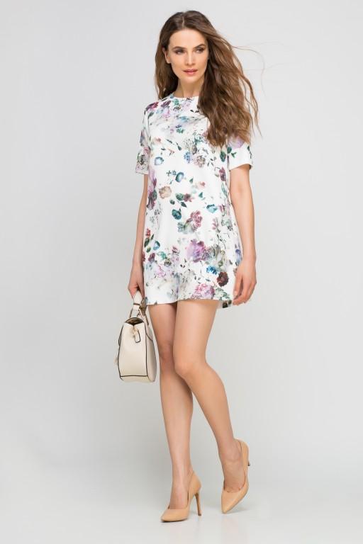 Sukienka mini, SUK144 kwiaty