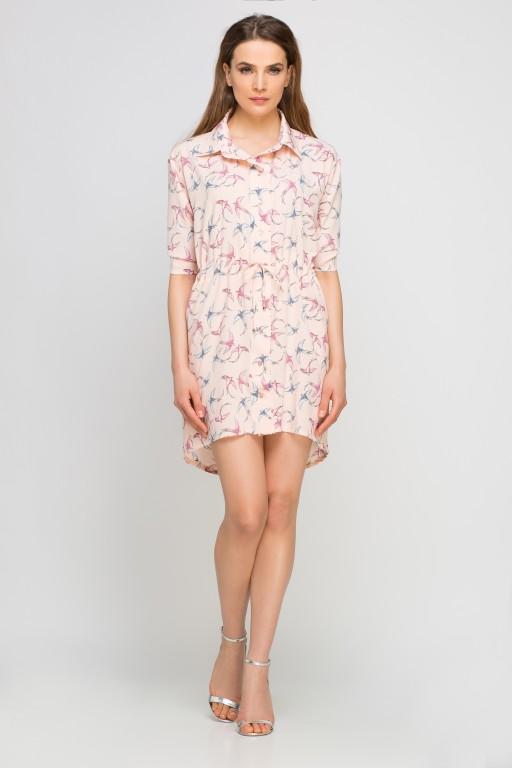 Shirt dress, SUK142 pink pattern