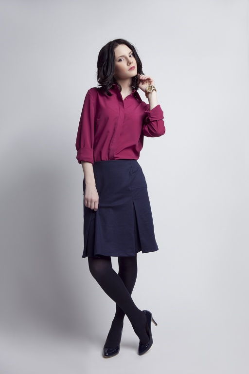 Black pleated skirt, SP107 navy