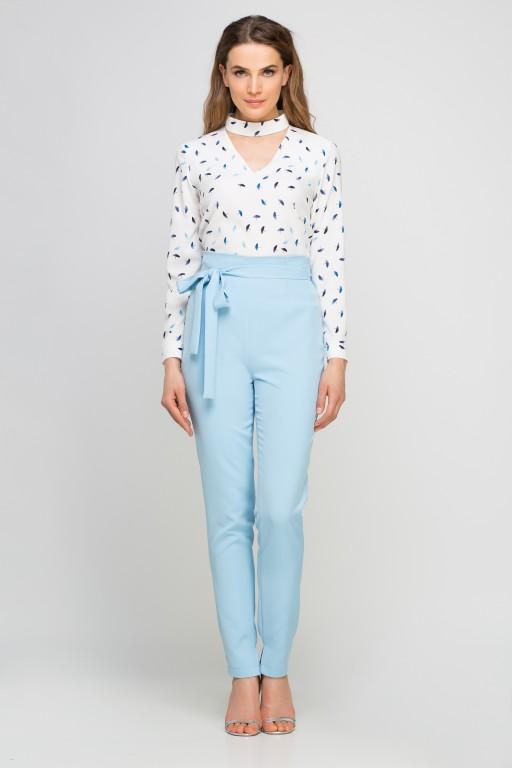 Spodnie z szarfą, SD113 błękit