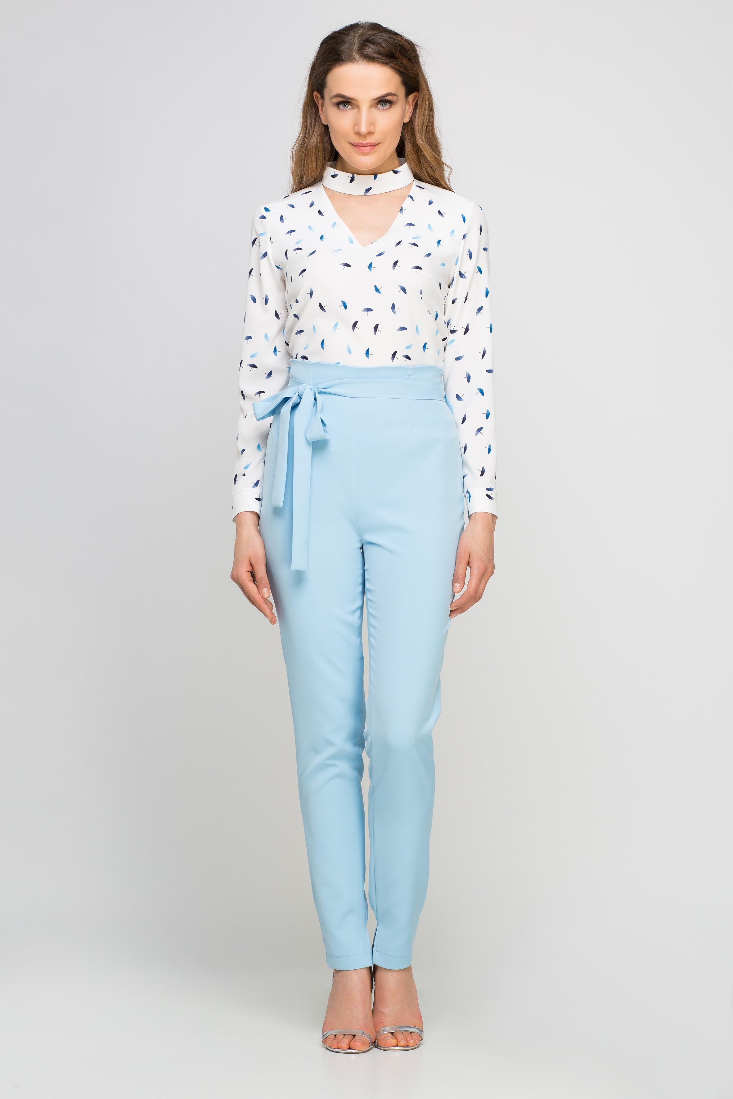 Spodnie z szarfą, SD113 błękit Lanti