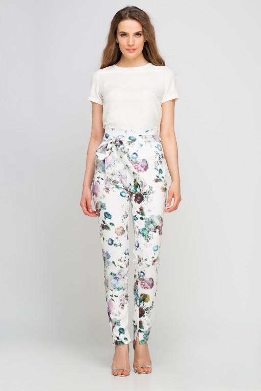 Pants with sash, SD113 flowers