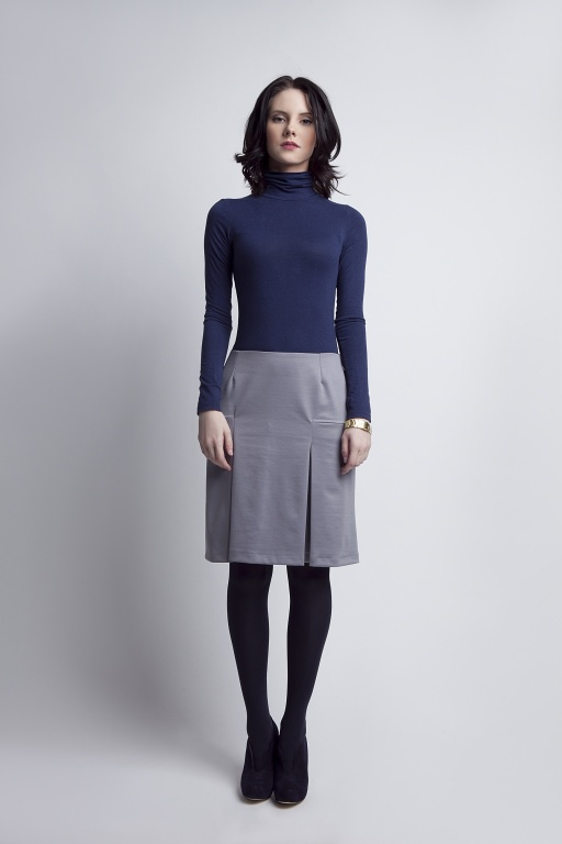 Grey pleated skirt, SP107 gray