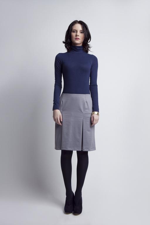 Grey pleated skirt, SP107 gray
