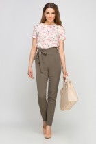 Elegancka bluzka z krótkim rękawem, BLU133 jaskółki róż