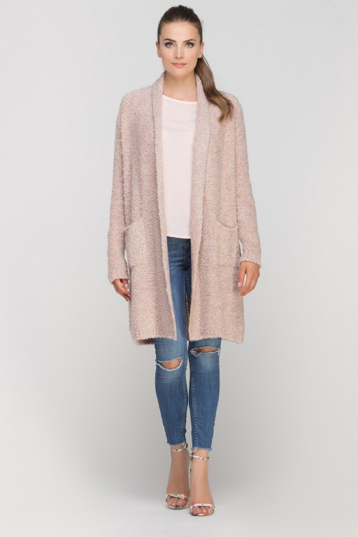 Extensive cardigan, SWE111 pink