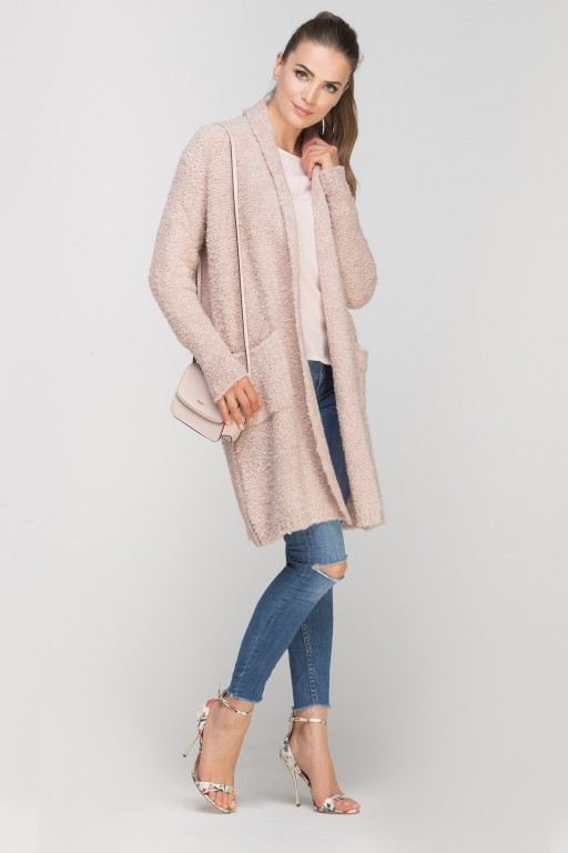 Long, warm sweater, SWE111 pink