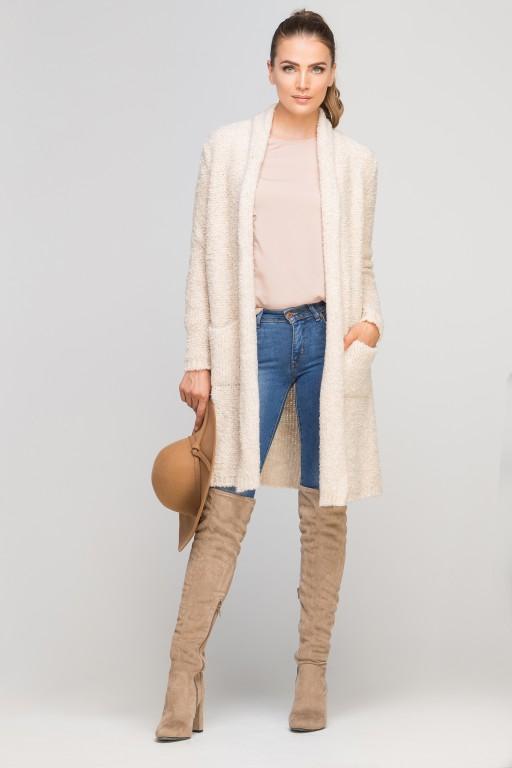 Extensive cardigan, SWE111 beige