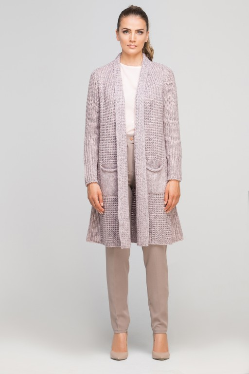 Knitted coat, SWE112 pink