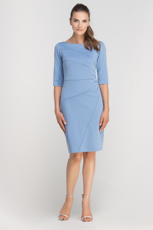 Dress matched with stitching, SUK146 lightblue