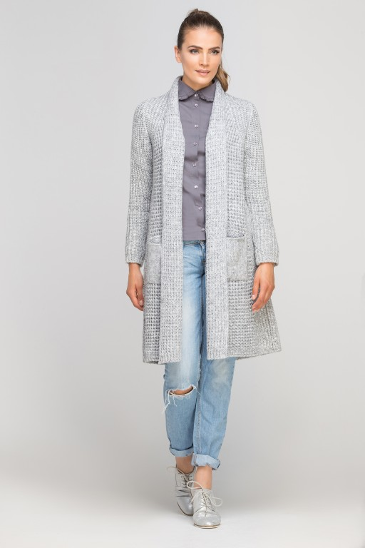 Knitted coat, SWE112 gray