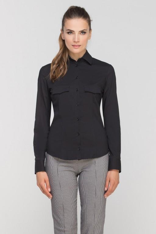 Koszula z patkami, K106 czarny