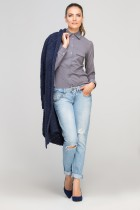 Shirt with flaps on chest, K106 gray